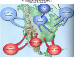 Air Masses Map Of Us - Air masses map of us